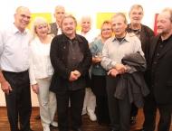 Namen von links nach rechts: Eberhard Klinger, Heidi Bierwisch, Otto Reitsperger, Reinhard Roy, Hellmut Bruch, Petra Hille, Gerhard Frömel, István Haász, Josef Linschinger