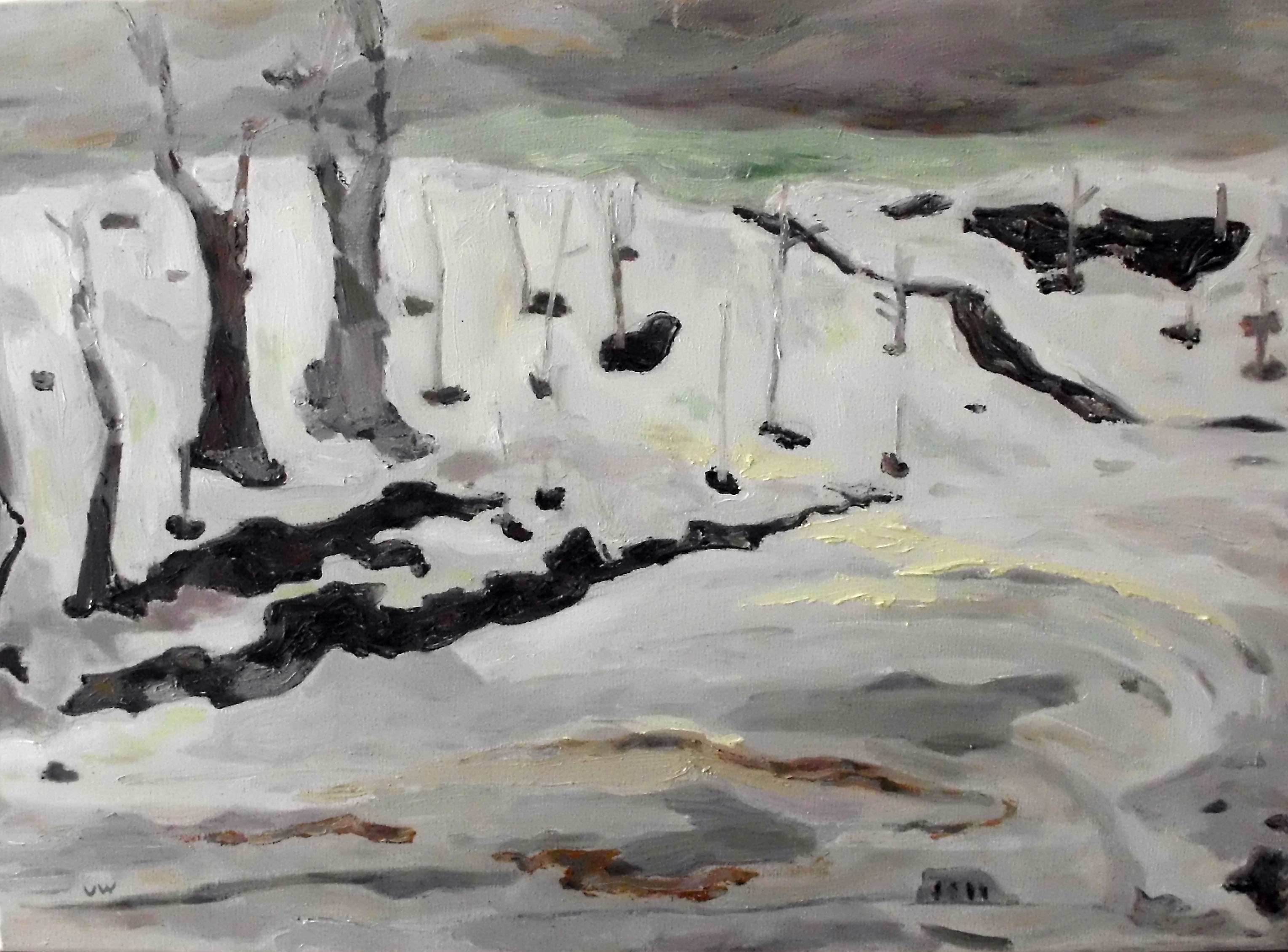 Ute Wittig - Winter vor dem Haus