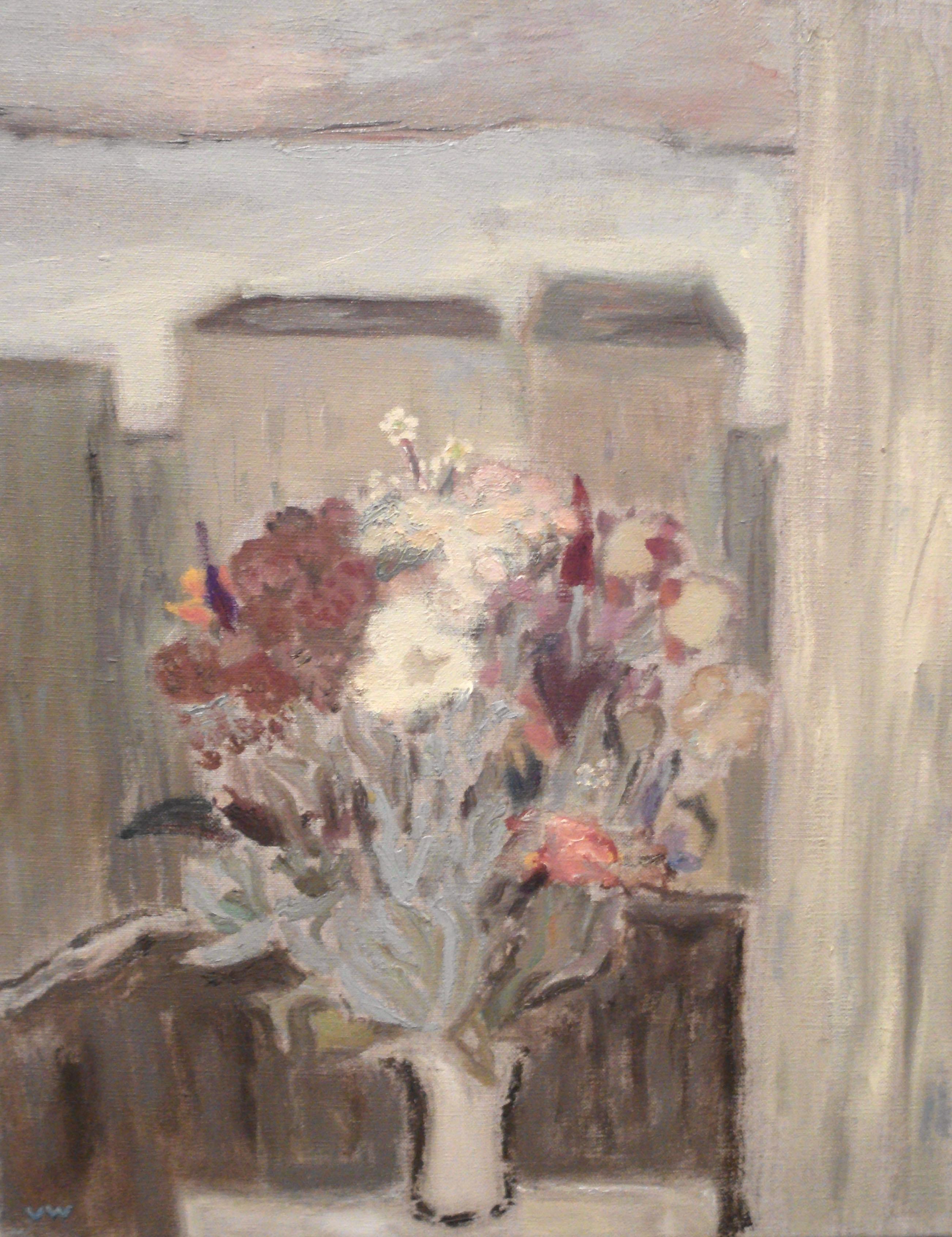 Ute Wittig - Der Strauß auf dem Balkon