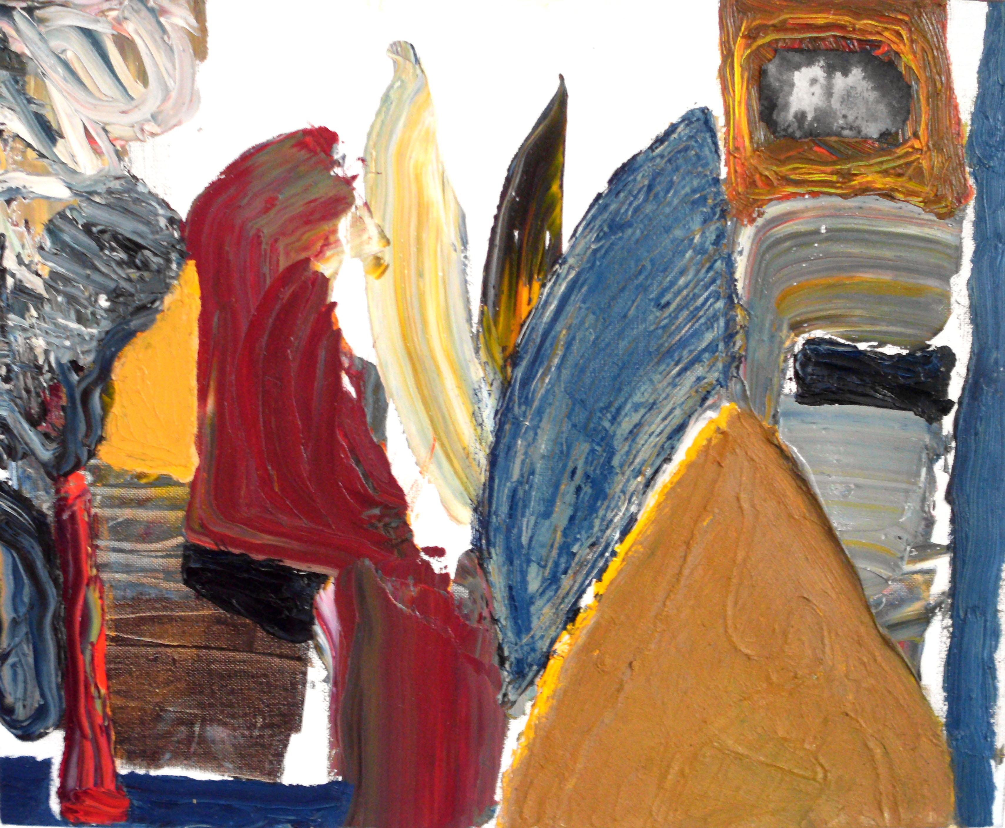Strawalde - Collage (oben rechts) | Öl auf Leinwand | 2012