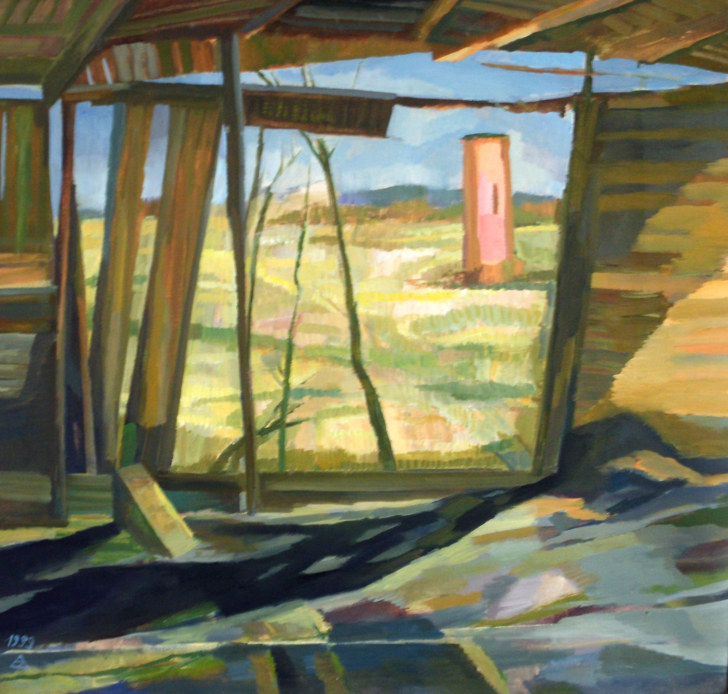 Almut Zielonka - Scheunentor | Öl auf Baumwolle | 1999