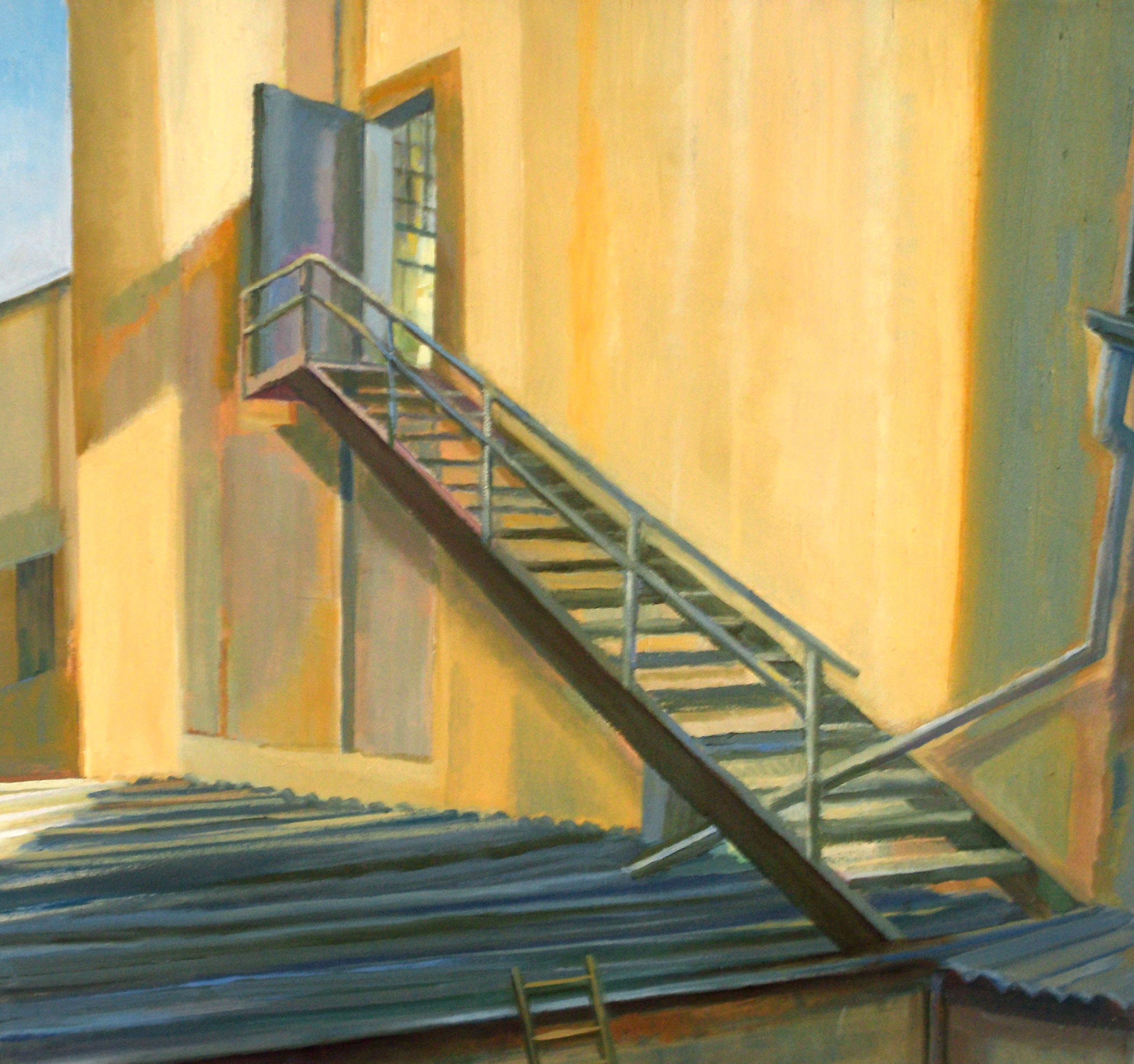 Almut Zielonka - Die Eisentreppe (II) | Öl auf Baumwolle | 1998/2012