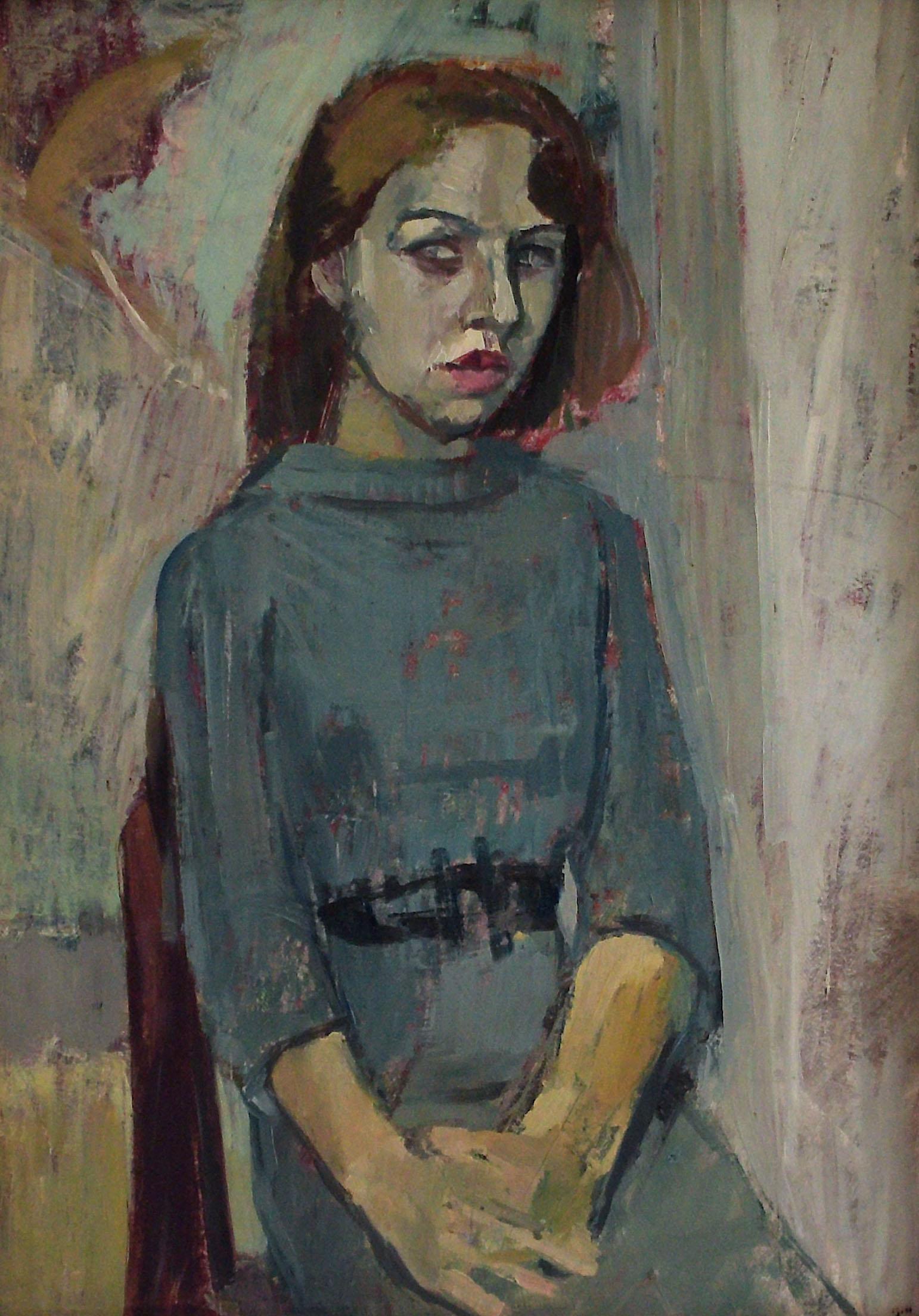 Gunter Herrmann - Mädchen in grünem Kleid