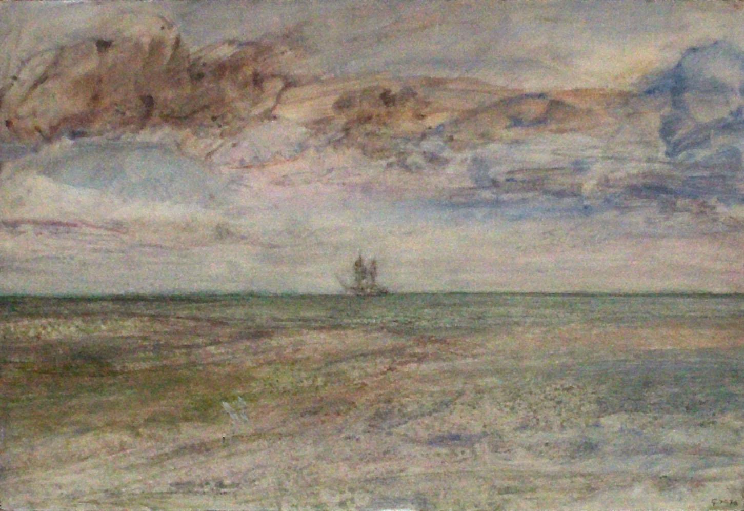 Gunter Herrmann - Segelschiff auf dem Bodden