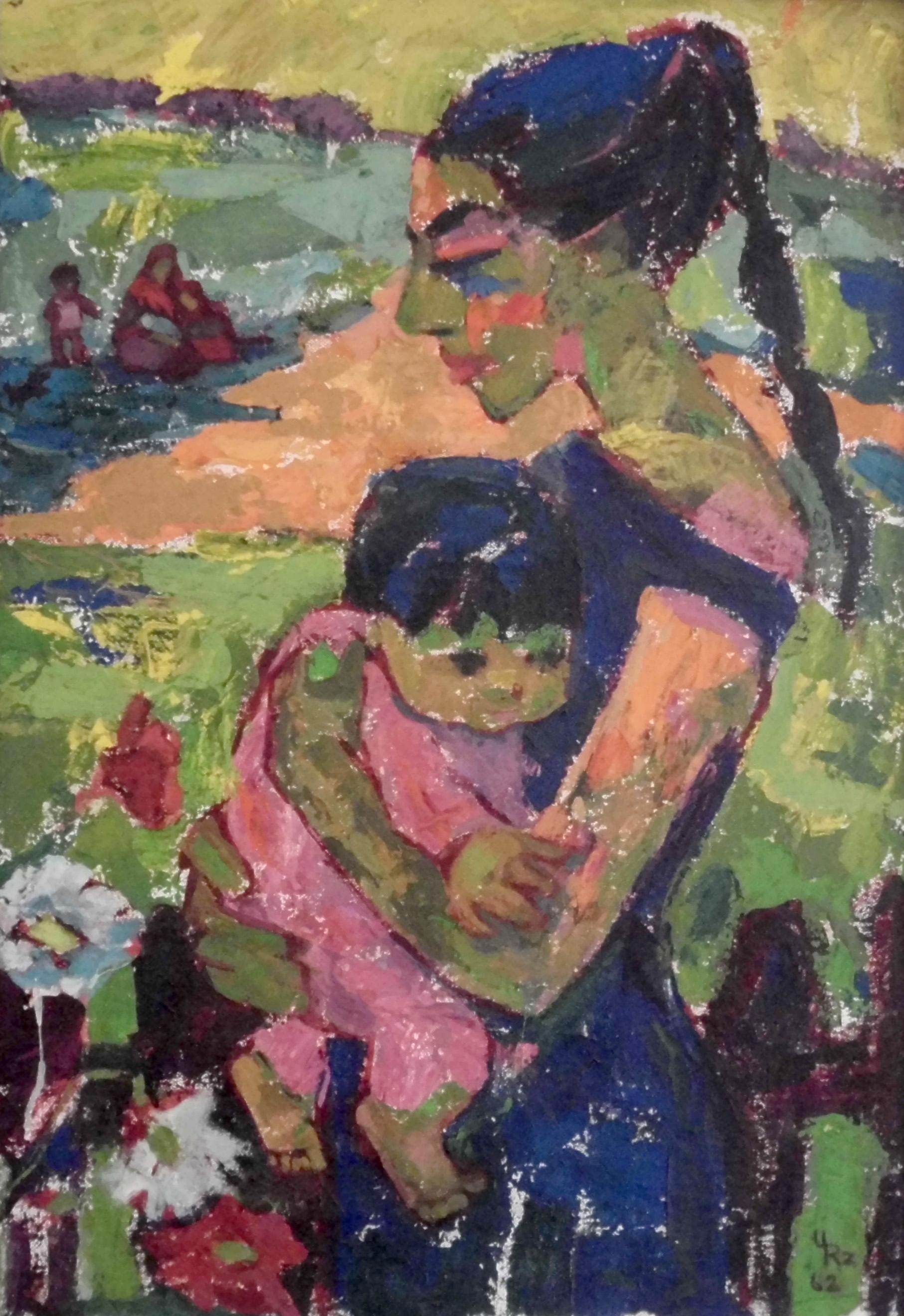 13-ursula_rzodeczko-zigeunerkinder-1962-oel_auf_leinwand-80x55
