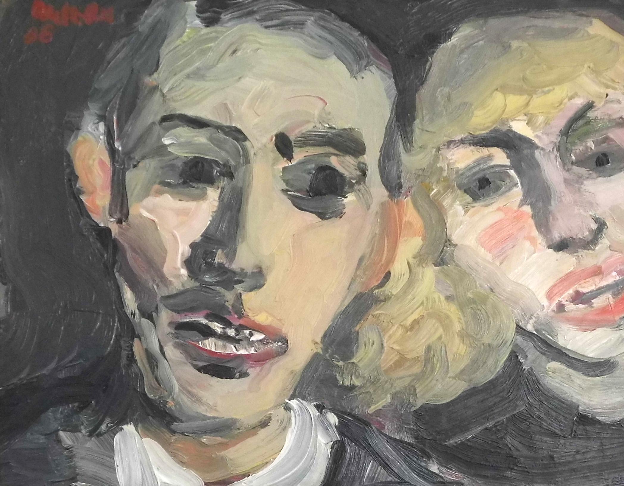 02-harald_metzkes-zwei_gesichter-1986-oel_auf_leinwand-24x30