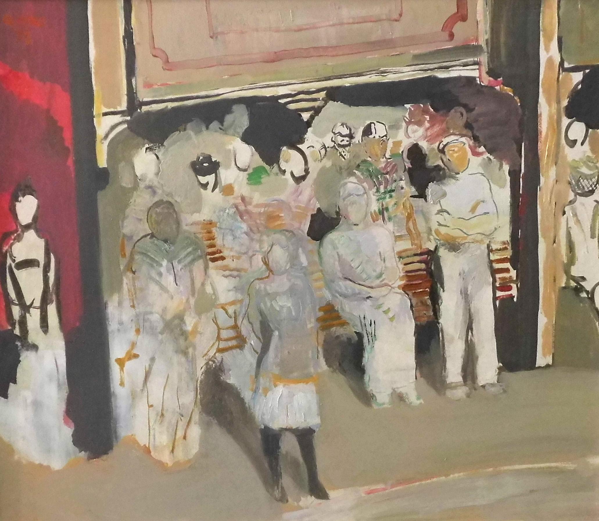 10-harald_metzkes-das_publikum-1991-oel_auf_leinwand-60x70