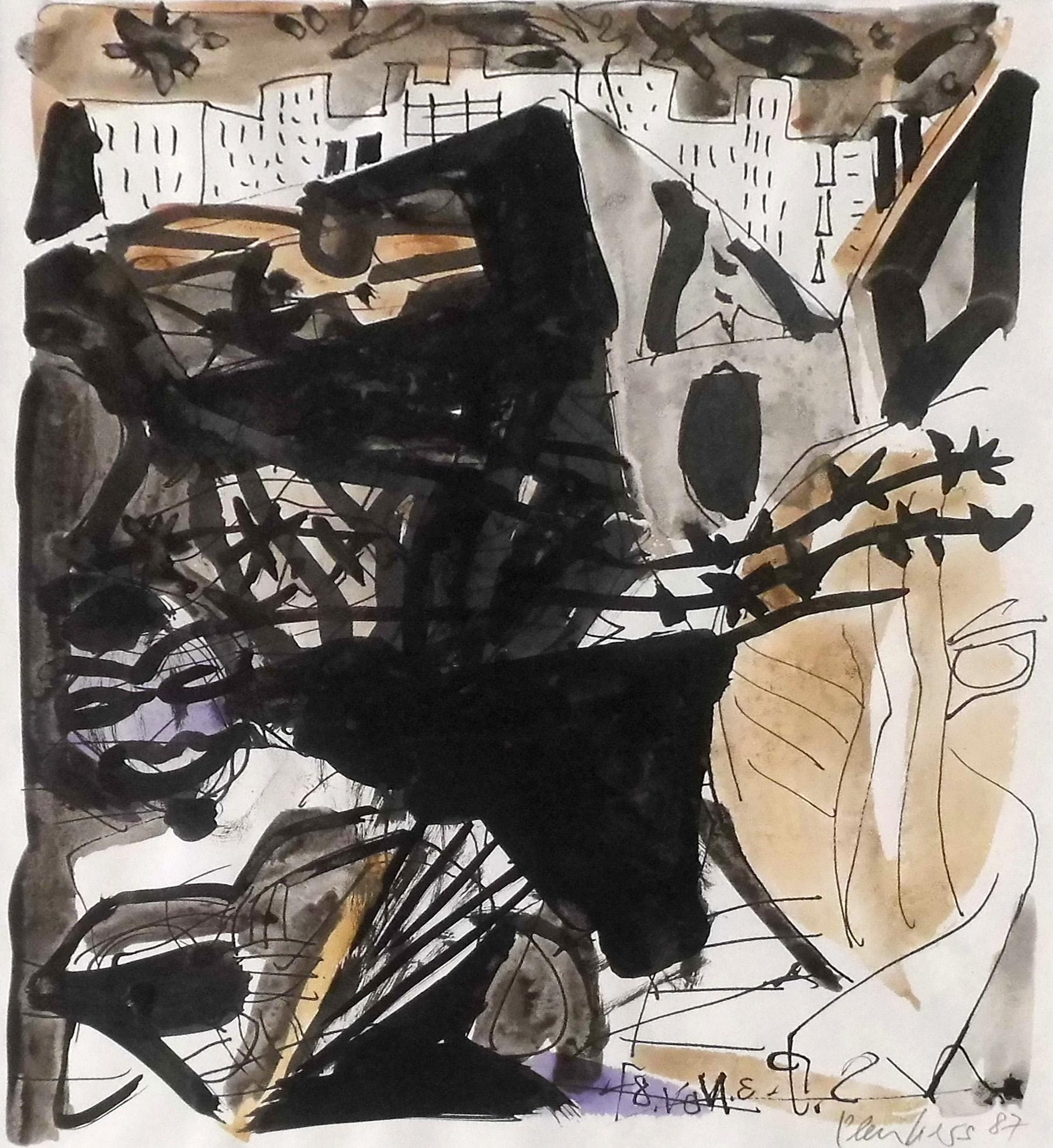 15-stefan_plenkers-aus_der_serie_chronika-1987-farbige_tuschen_auf_zeichnung-38x28