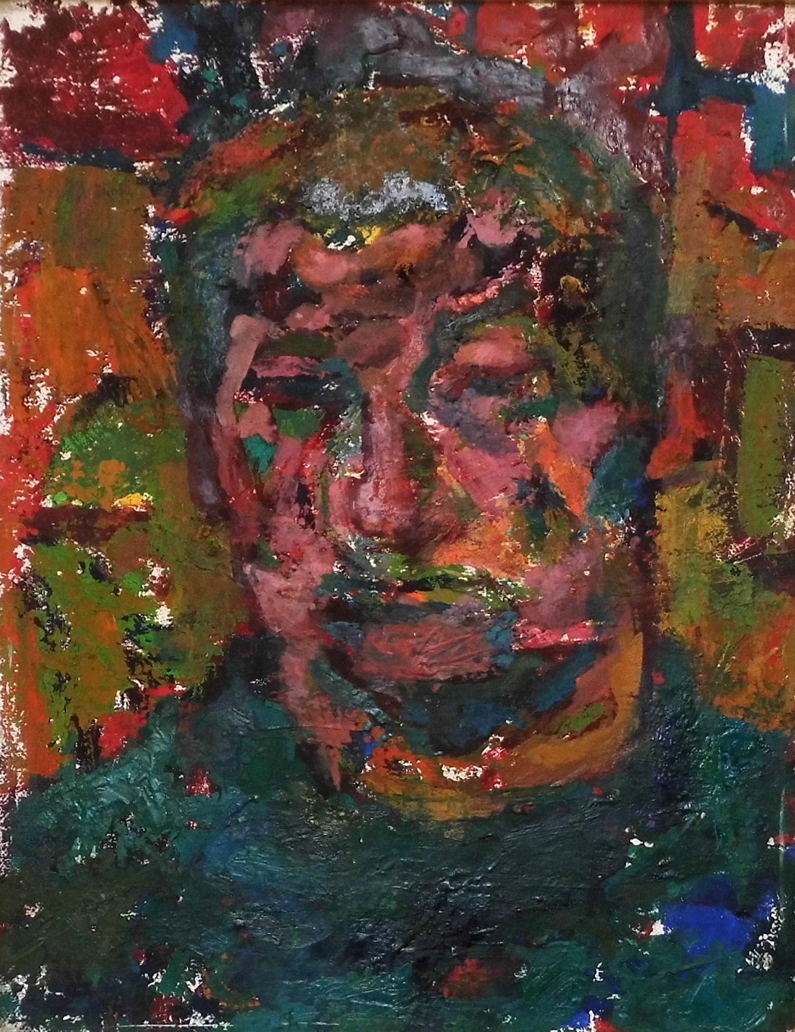 01-Ursula Rzodeczko-Bildnis Gerhard Kettner-1966-Öl auf Leinwand-45x35