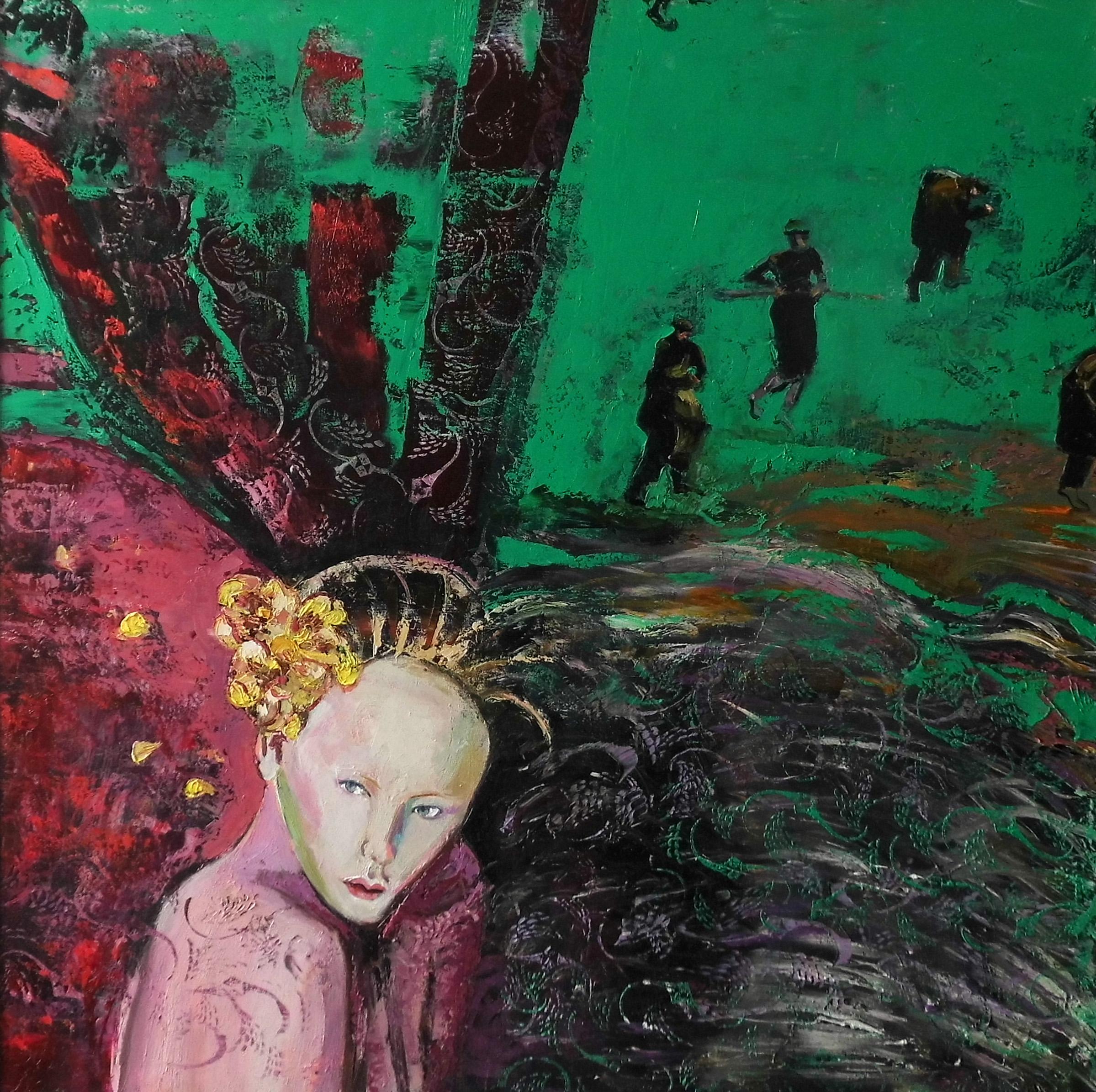 05-Christine Schlegel-Komplimentär-2015-Öl auf Leinwand-100x100