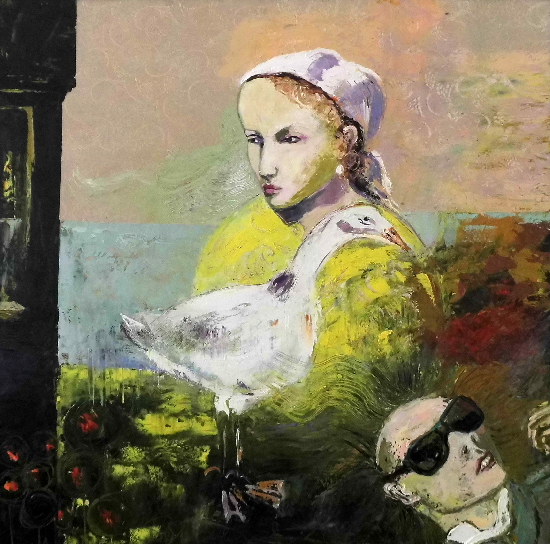 07-Christine Schlegel-Die Lieblingsgans-2016-Öl auf Leinwand-100x100