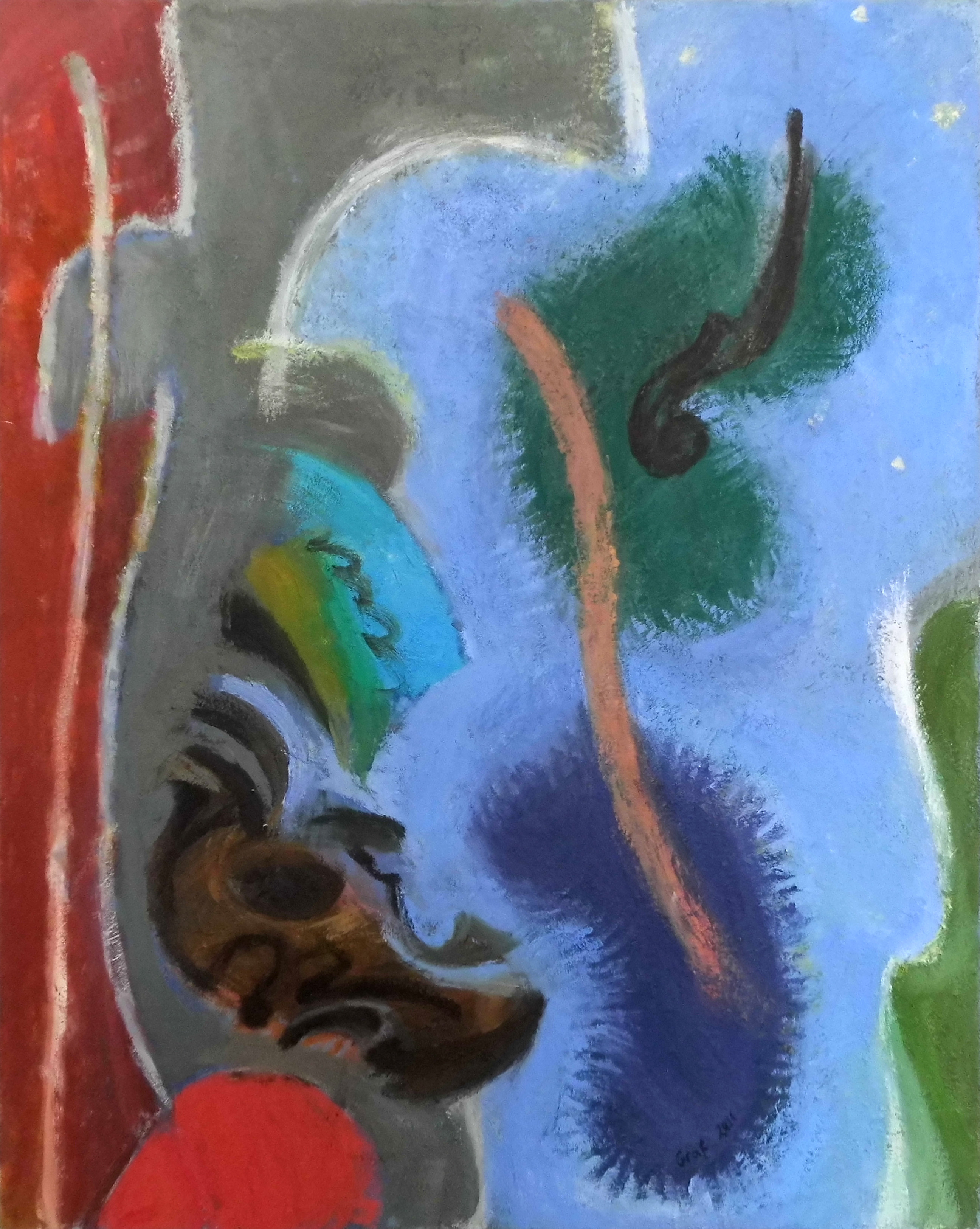 12-Peter Graf-Geigen im Himmel, Geigen Im A…-2011-Öl auf Leinwand-100x80
