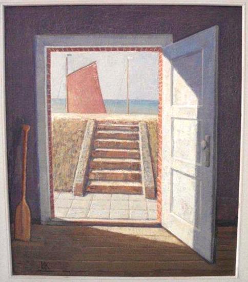 Wolfgang Kühne - Treppe zum Deich
