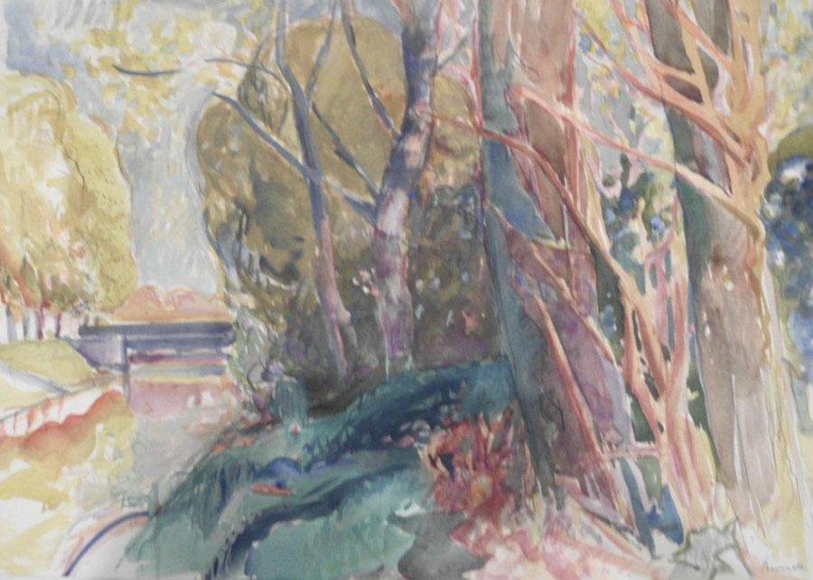 Peter Berndt - Uferbäume an der Nuthe