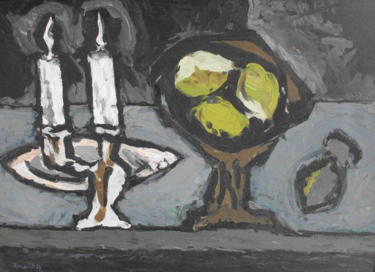 Klaus Roenspieß - Stilleben mit Kerzen