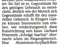 Konkrete Spektrale - Sächsische Zeitung (SZ) Radeberg vom 22.09.2012