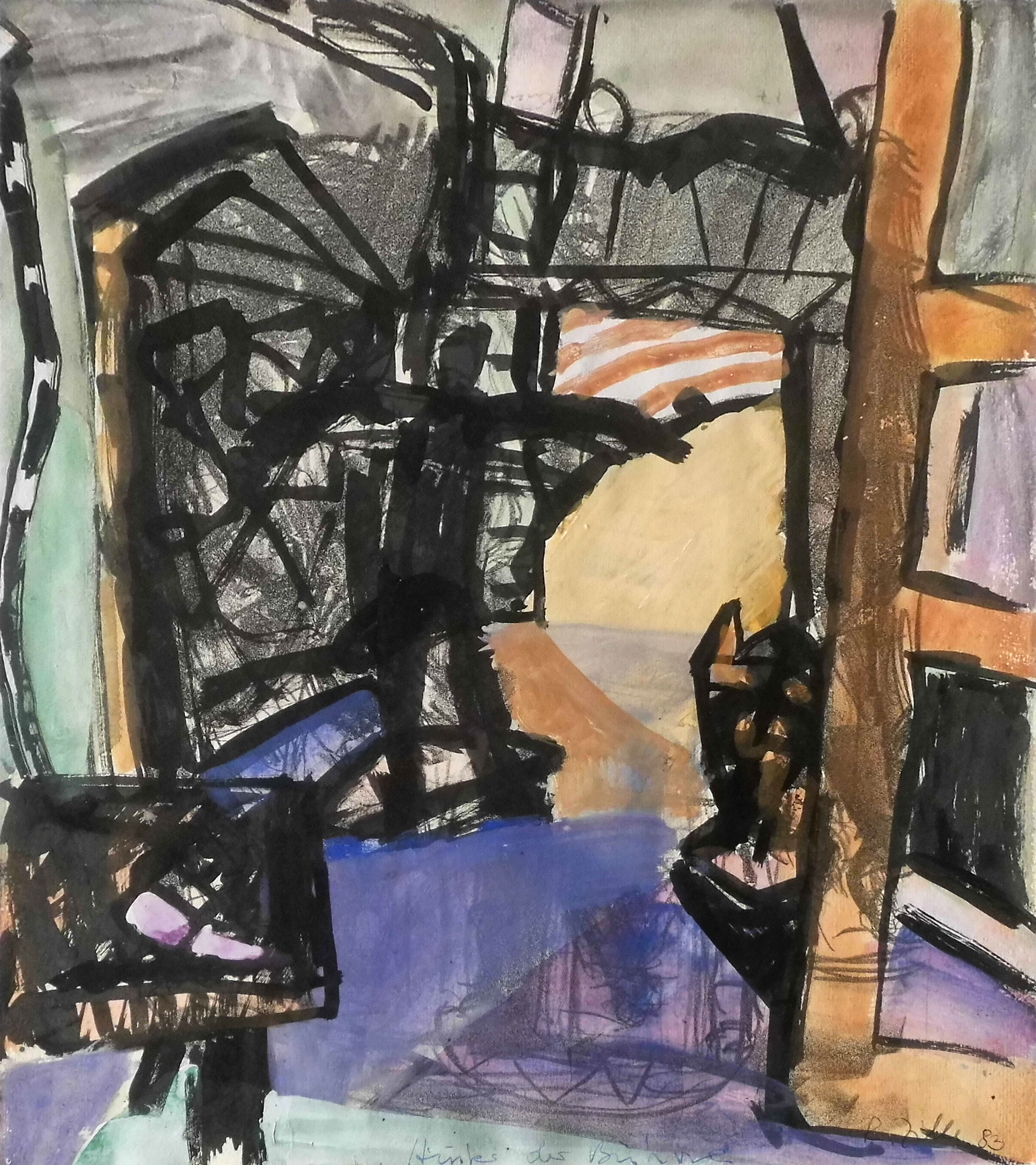 01-rainer_zille-hinter_der_buehne-1983-aquarell-46x38