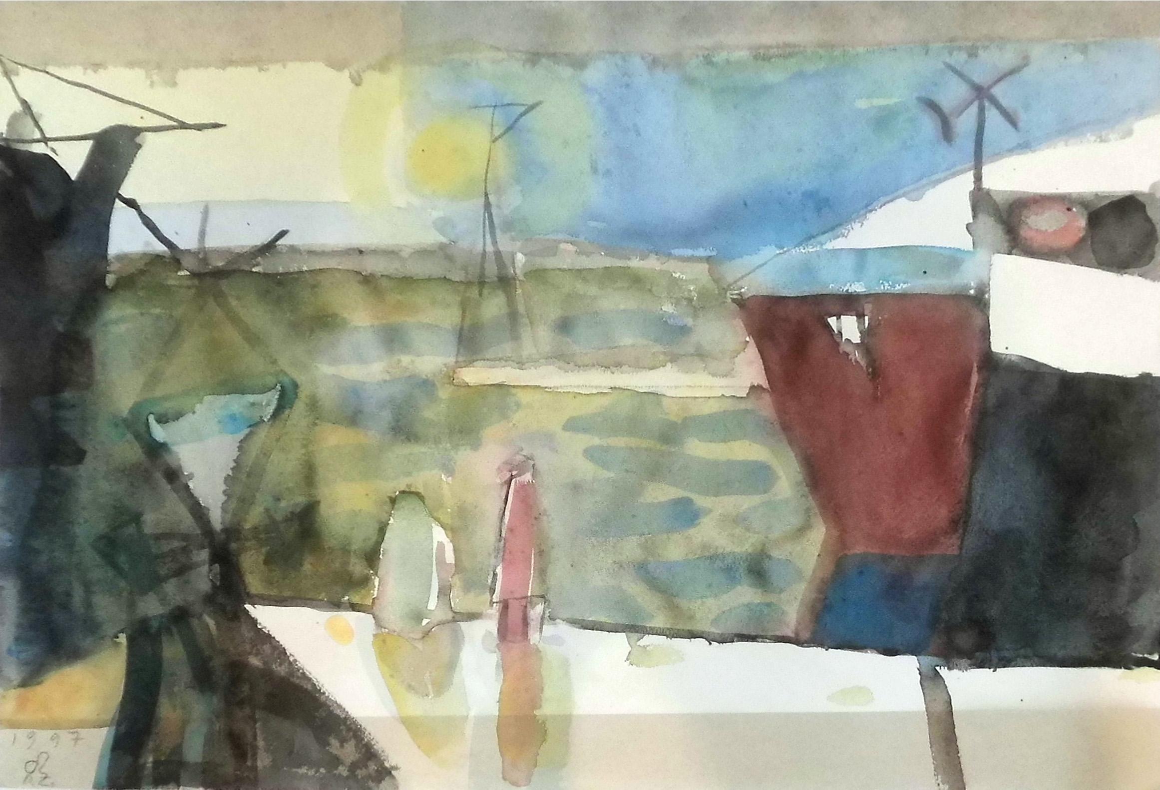03-rainer_zille-ankunft_i-1997-aquarell-44x58-5