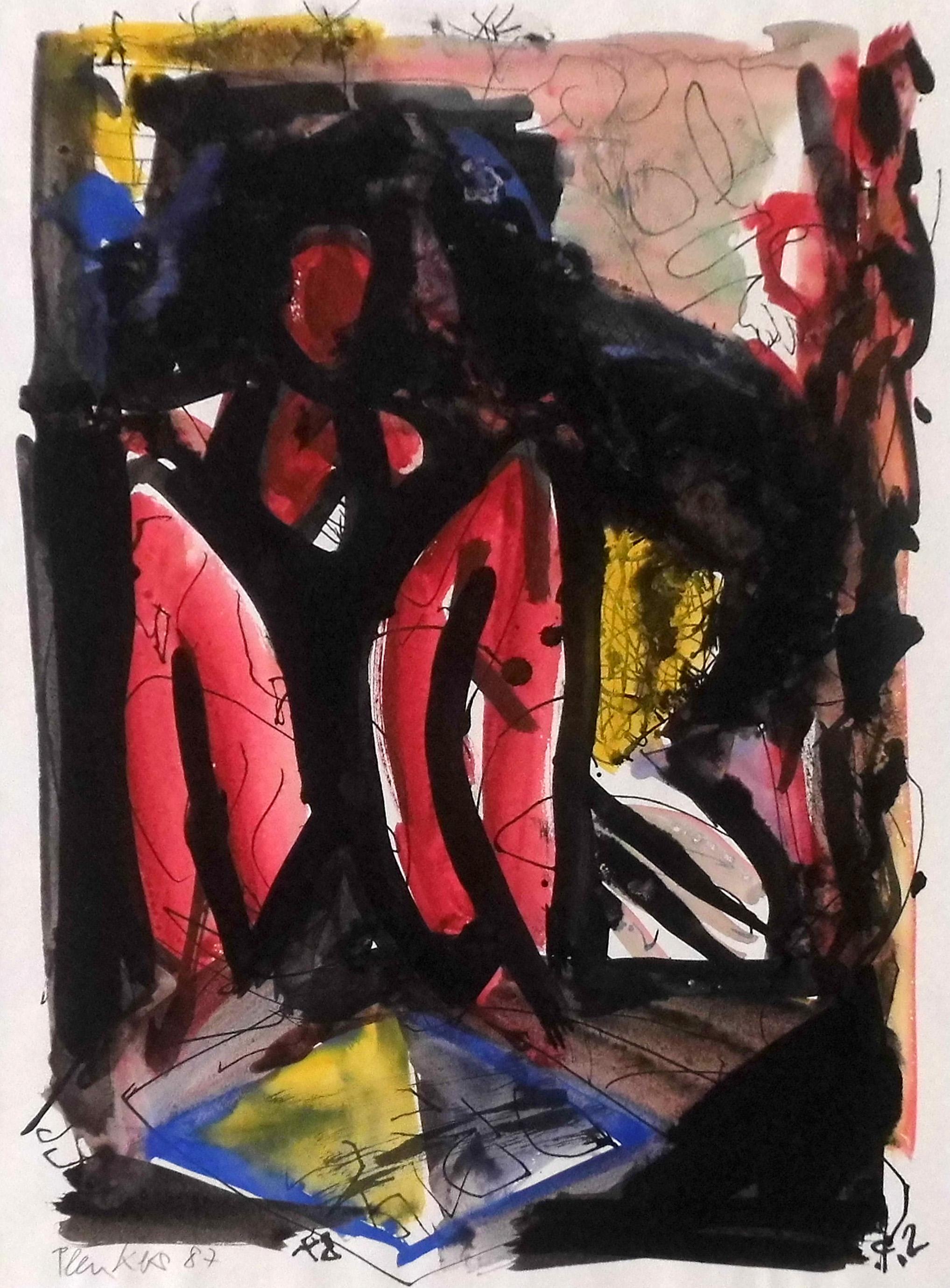 16-stefan_plenkers-aus_der_serie_chronika-1987-farbige_tuschen-38x28
